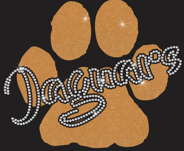 Jaguars Paw CO Vinyl and Rhinestone Transfer